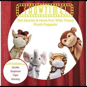 🆕 NWOT, 4pc jungle hand puppets